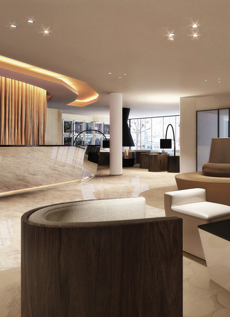 interior architect interior design hospitality retail: Hotel Mövenpick, Lausanne-Ouchy