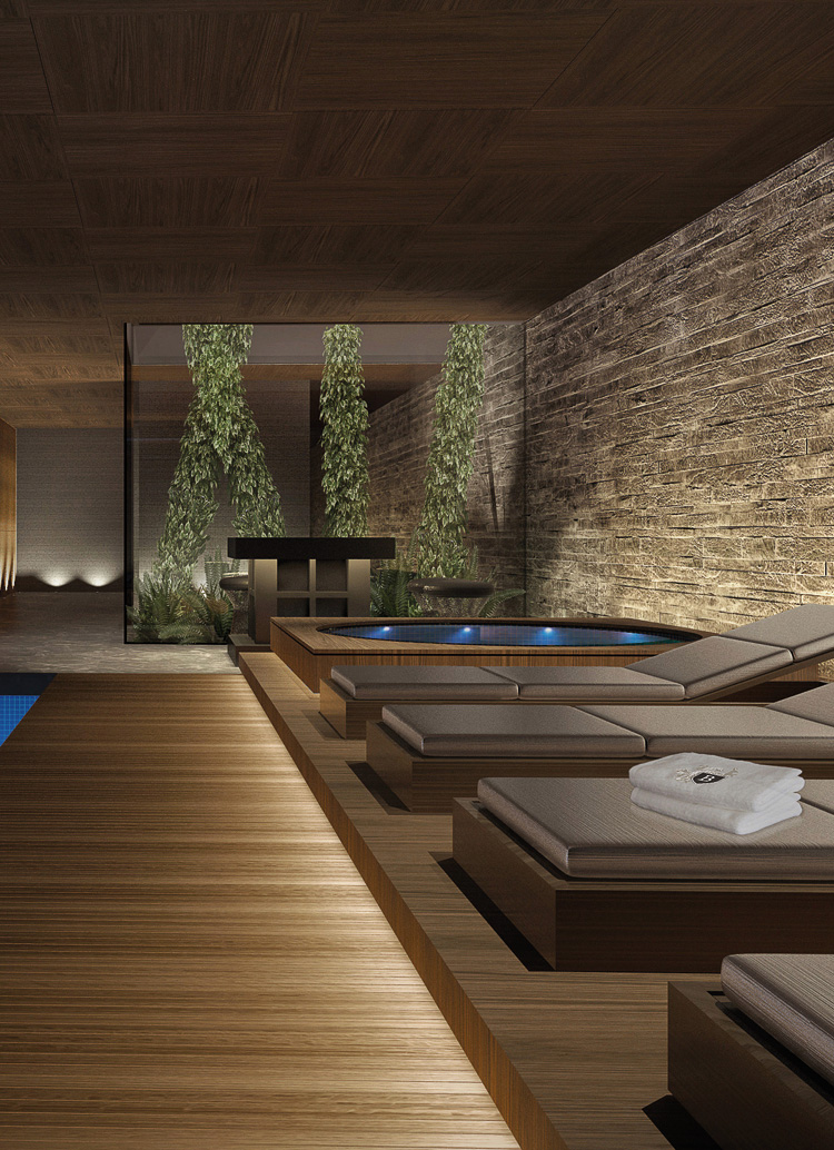 Innenarchitektur Architektur Design Wellness; hotel industry: Spa, Lakeview Residence Villas, Bürgenstock Resort