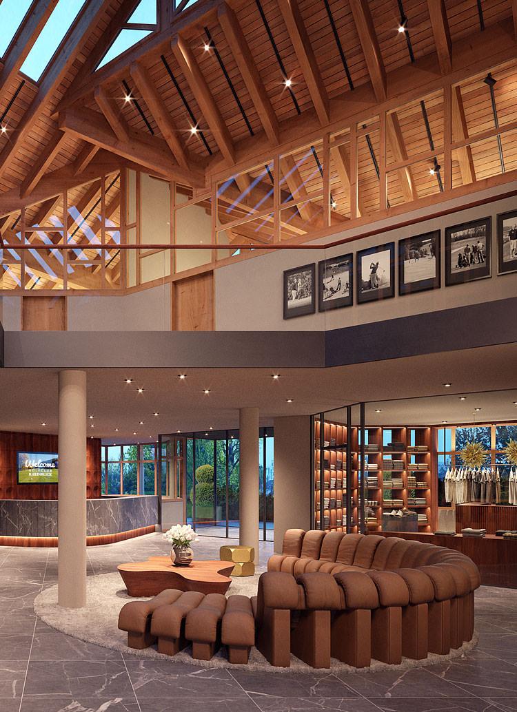 Innenarchitekt Interior Design Hotel Hotellerie Restaurant Retail: Golfclub Rheinblick