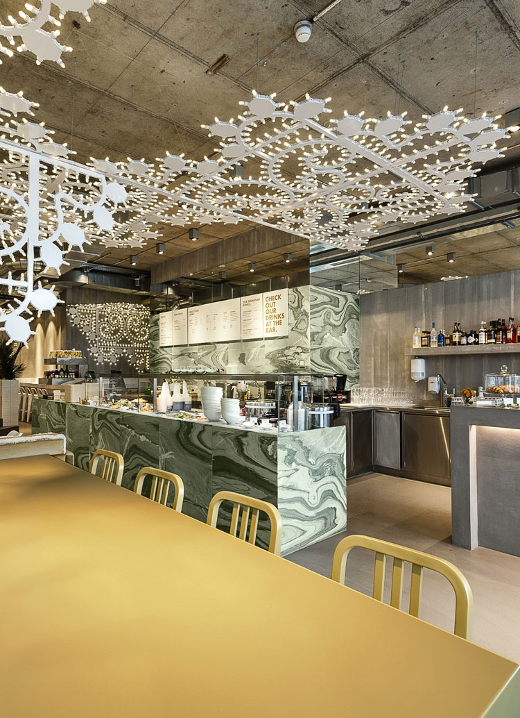 Innenarchitektur Architektur Design Catering industry, restaurant: Ona Poké,  restaurant, bar & take-away, Zurich