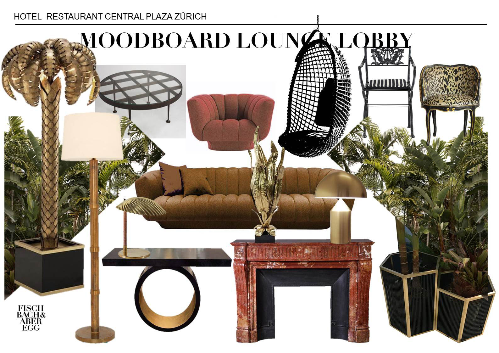 interior architect interior design hospitality retail: Moodboard Lounge Lobby