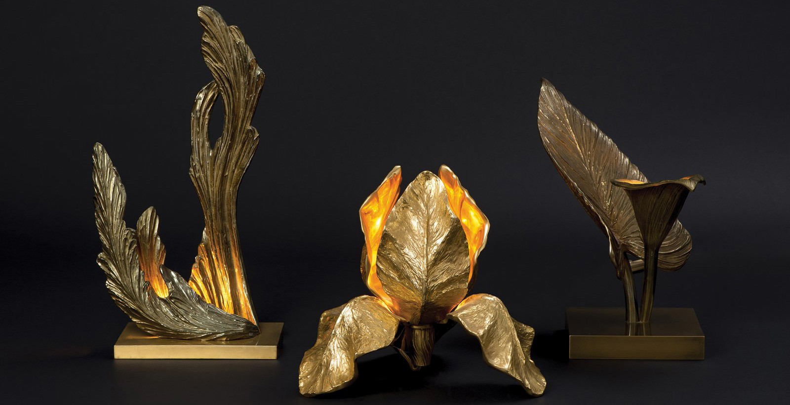 Sculpture tablelamps