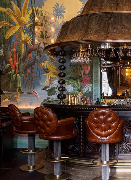Innenarchitekt Interior Design Hotel Hotellerie Restaurant Retail: Amazing handpanted panorama Wallpaper