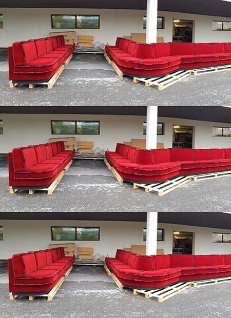 Innenarchitekt Interior Design Hotel Hotellerie Restaurant Retail: Sofa ready for Hotel Alex Zermatt