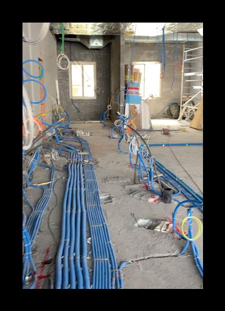 interior architect interior design hospitality retail: Jody's Restaurant & Bar Davos – shell construction in progress
