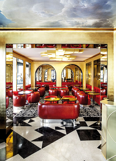 interior architect interior design hospitality retail: Cafe Francoise Paris