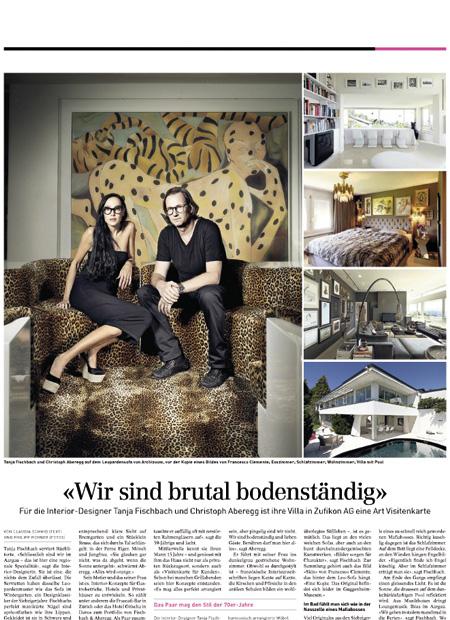 Innenarchitekt Interior Design Hotel Hotellerie Restaurant Retail: Sonntagszeitung - Wir sind total bodenständig