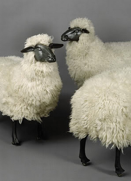 interior architect interior design hospitality retail: Sheep stools by Lalanne