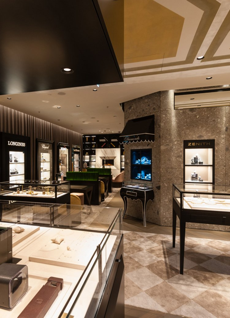 interior architect interior design hospitality retail: New generation of Kurz Jewelry boutiques, by Bucherer Group