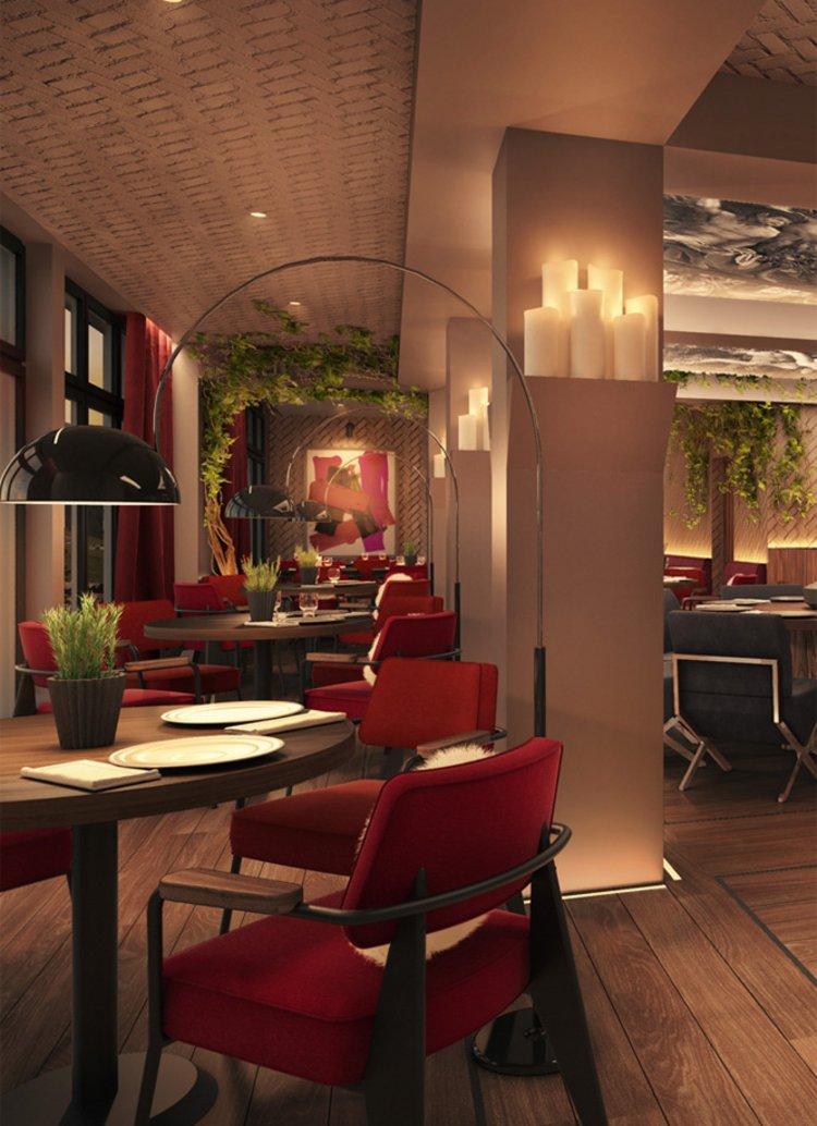 Innenarchitekt Interior Design Hotel Hotellerie Restaurant Retail: Weinrestaurant in einem Luxushotel der Bündner Alpen