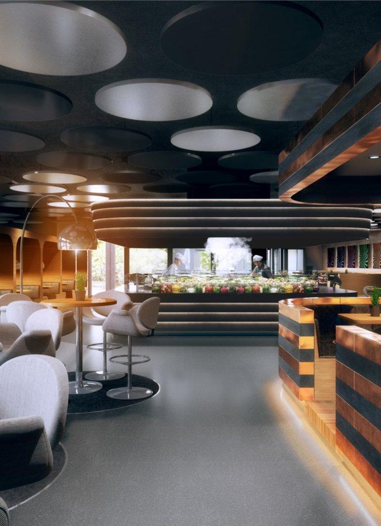 Innenarchitekt Interior Design Hotel Hotellerie Restaurant Retail: Kantine und Eventlokal Credit Suisse